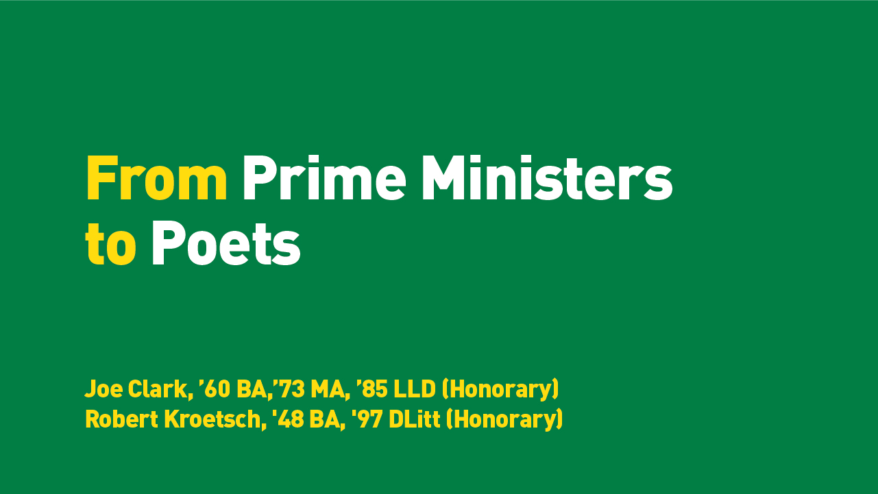 From Prime Ministers to Poets