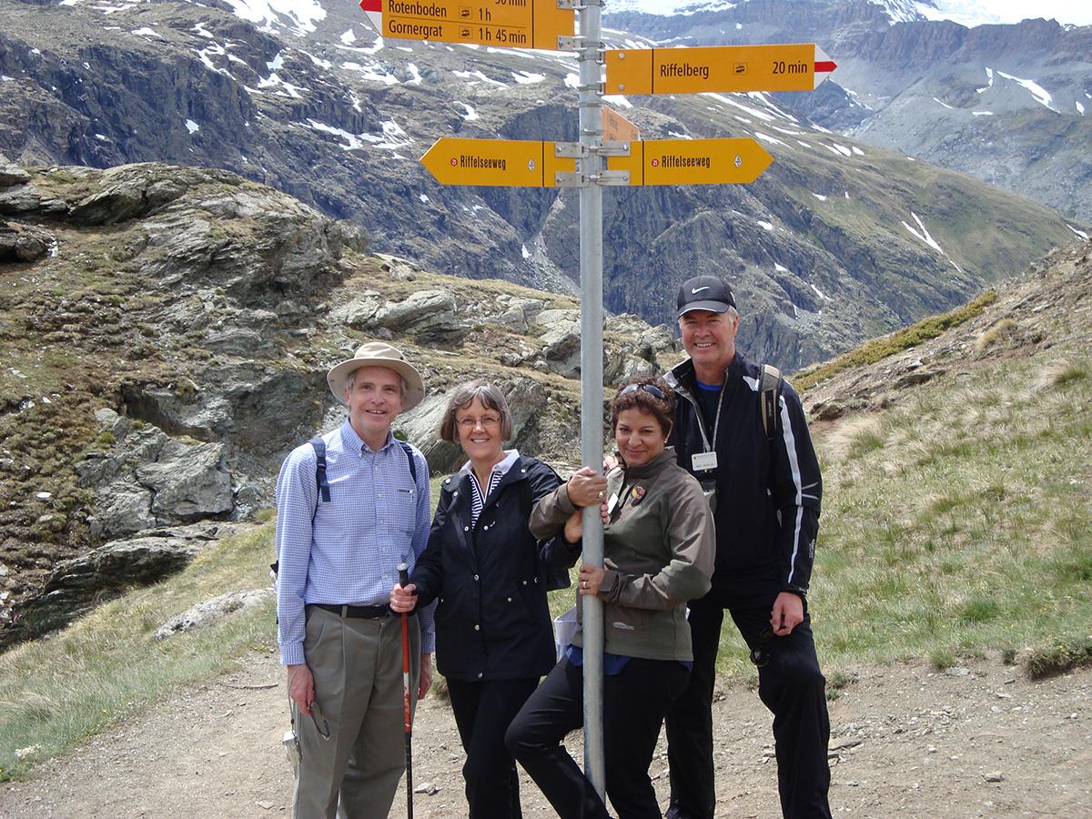 Alumni tour group on the Matterhorn