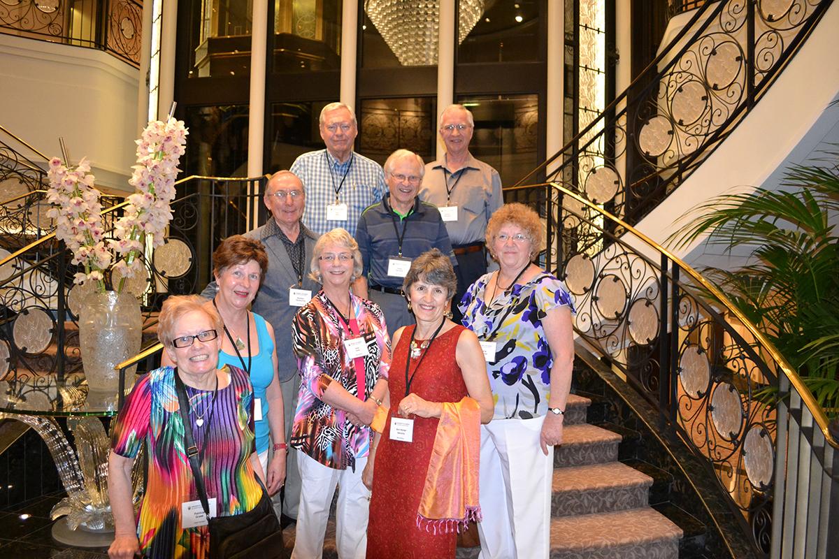 Alumni tour group on Mayan Mystique trip