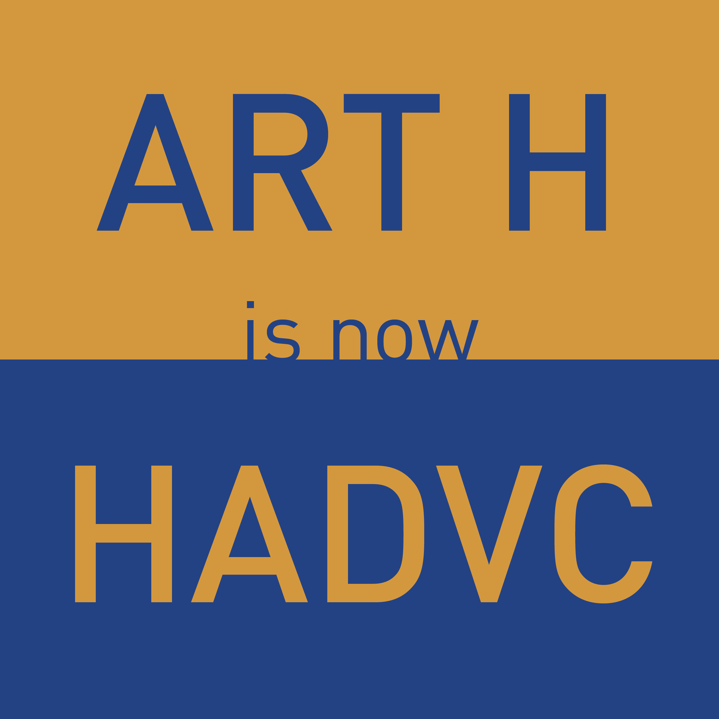 ART H is now HADVC