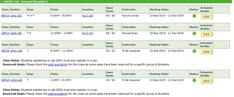 Step 3: Build a Draft Schedule   Augustana Campus