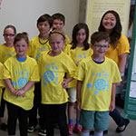 Photo of some kids in their DiscoverE shirts