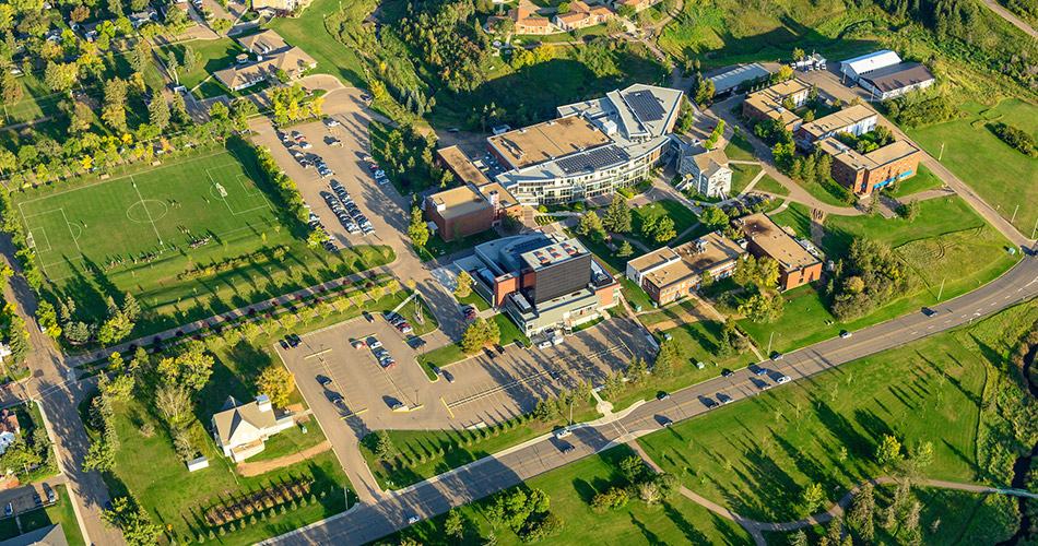 A  birds-eye view of campus