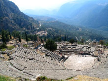 A photo of an auditorium in Delphi, Greece
