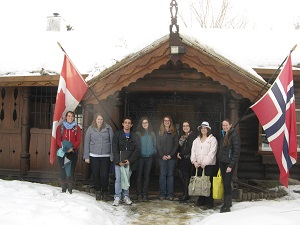 Nordic Club excursion to the Laft Hus, a Norwegian-Canadian museum, in Red Deer, AB.