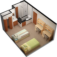 The layout of rooms in the Ravine Complex