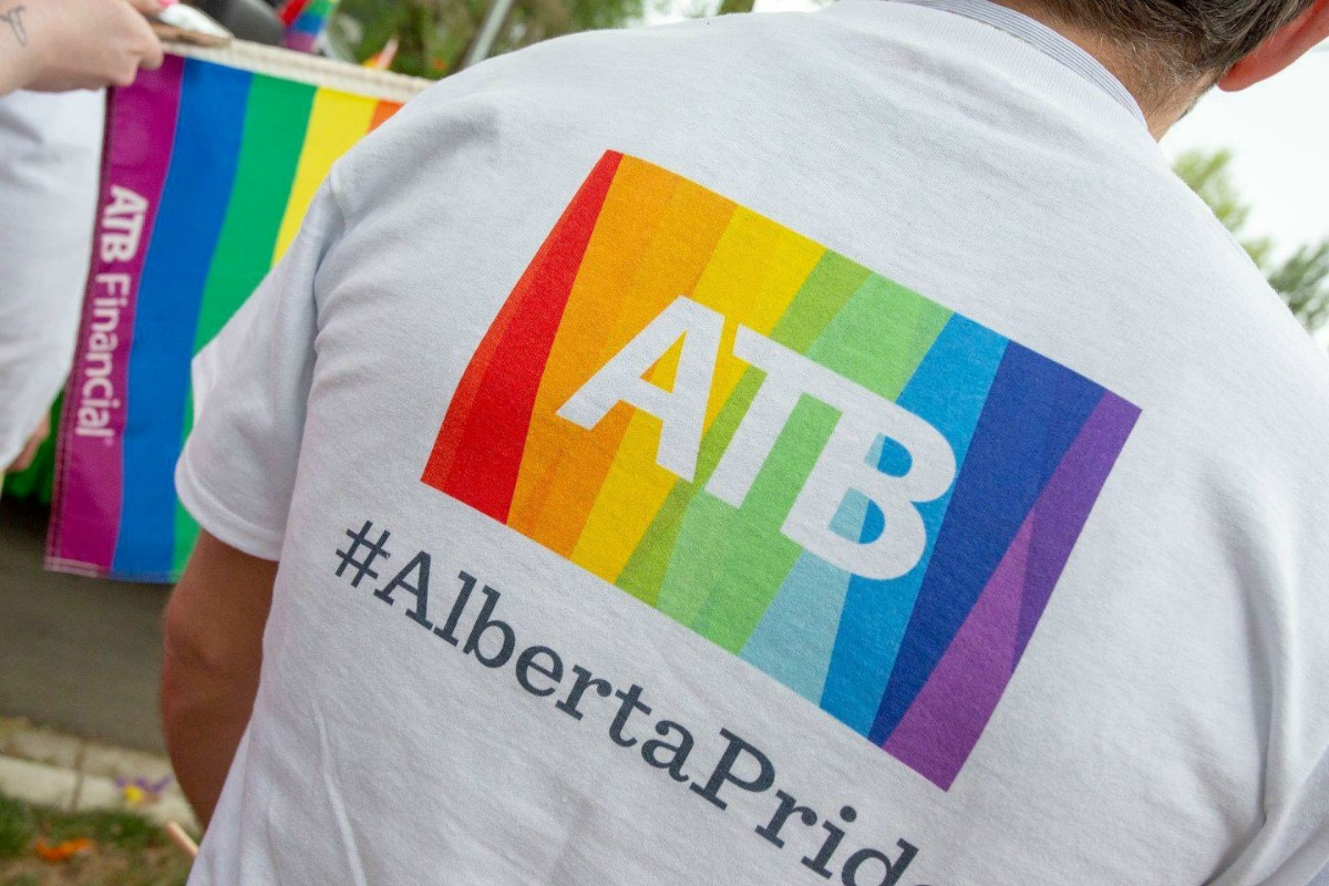 Person wearing ATB Pride Shirt