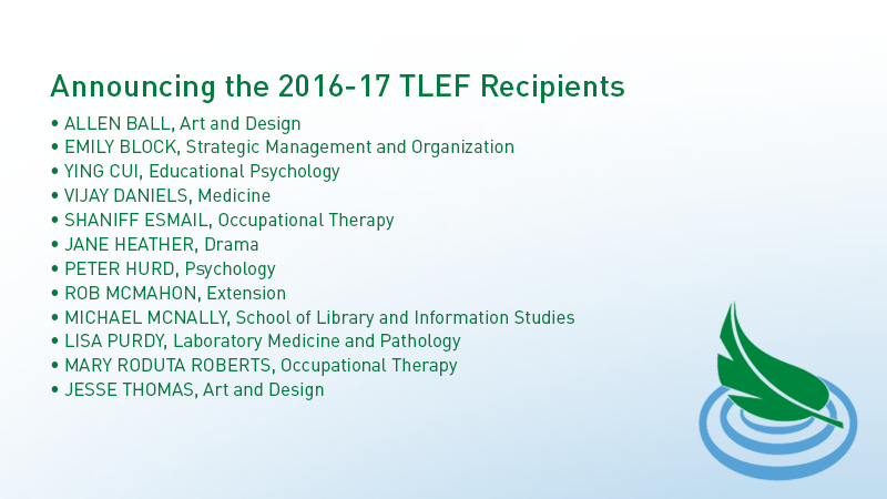 2016-17 TLEF Recipients
