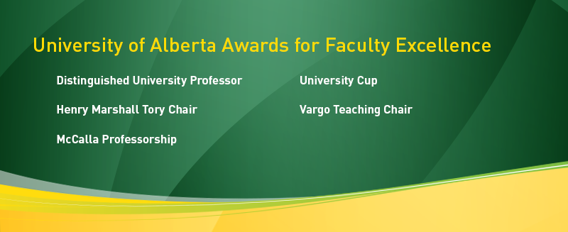 University of Alberta Awards for Faculty Excellence