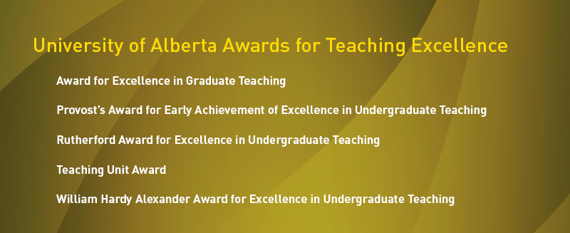 University of Alberta Awards for Teaching Excellence