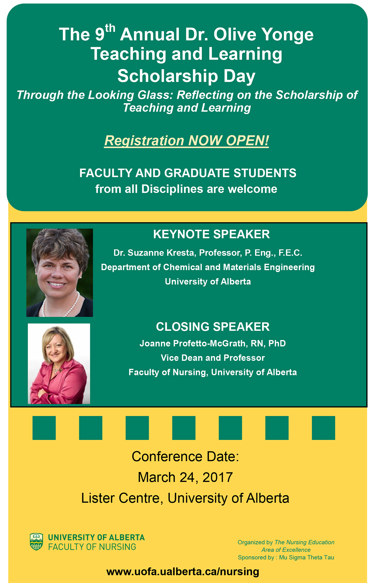 Dr. Olive Yonge Teaching and Learning Scholarship Day
