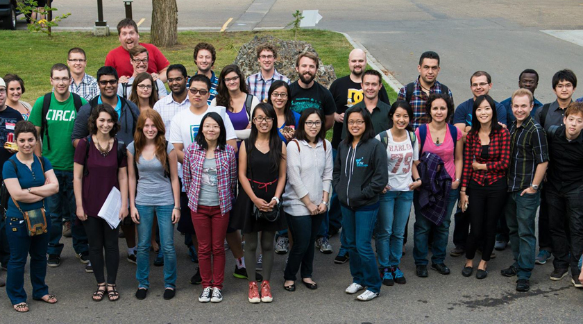 picture of grad students