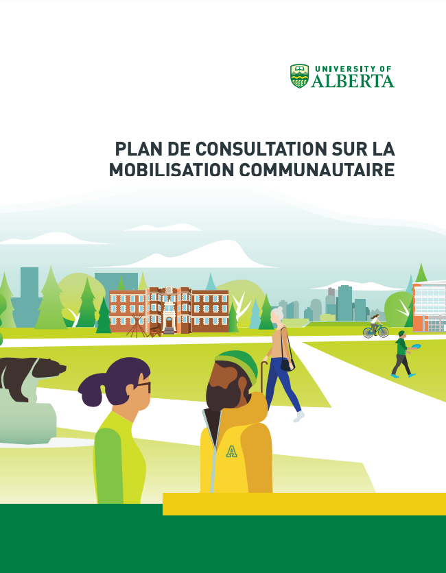 English cover of the community engagement consultation plan