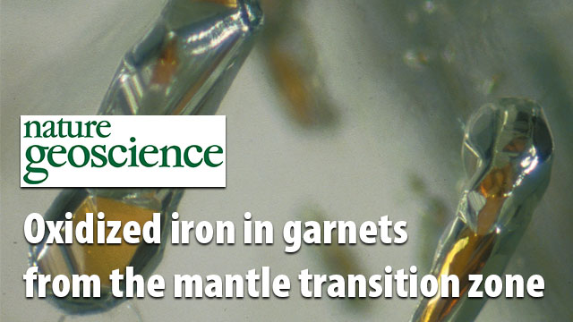Oxidized iron in garnets from the mantle transition zone
