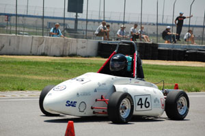 The 2008 FSAE team placed second in fuel efficiency, fifth in acceleration and 15th overall competing against teams from 75 universities. The 21-member interdisciplinary student group is made up of volunteers who participate in the project on their own time, outside of their rigorous study schedules.