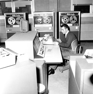 A 1950s computer room – our Faculty was an early leader in computer technology, installing an IBM 1800 system in the late 1960s.