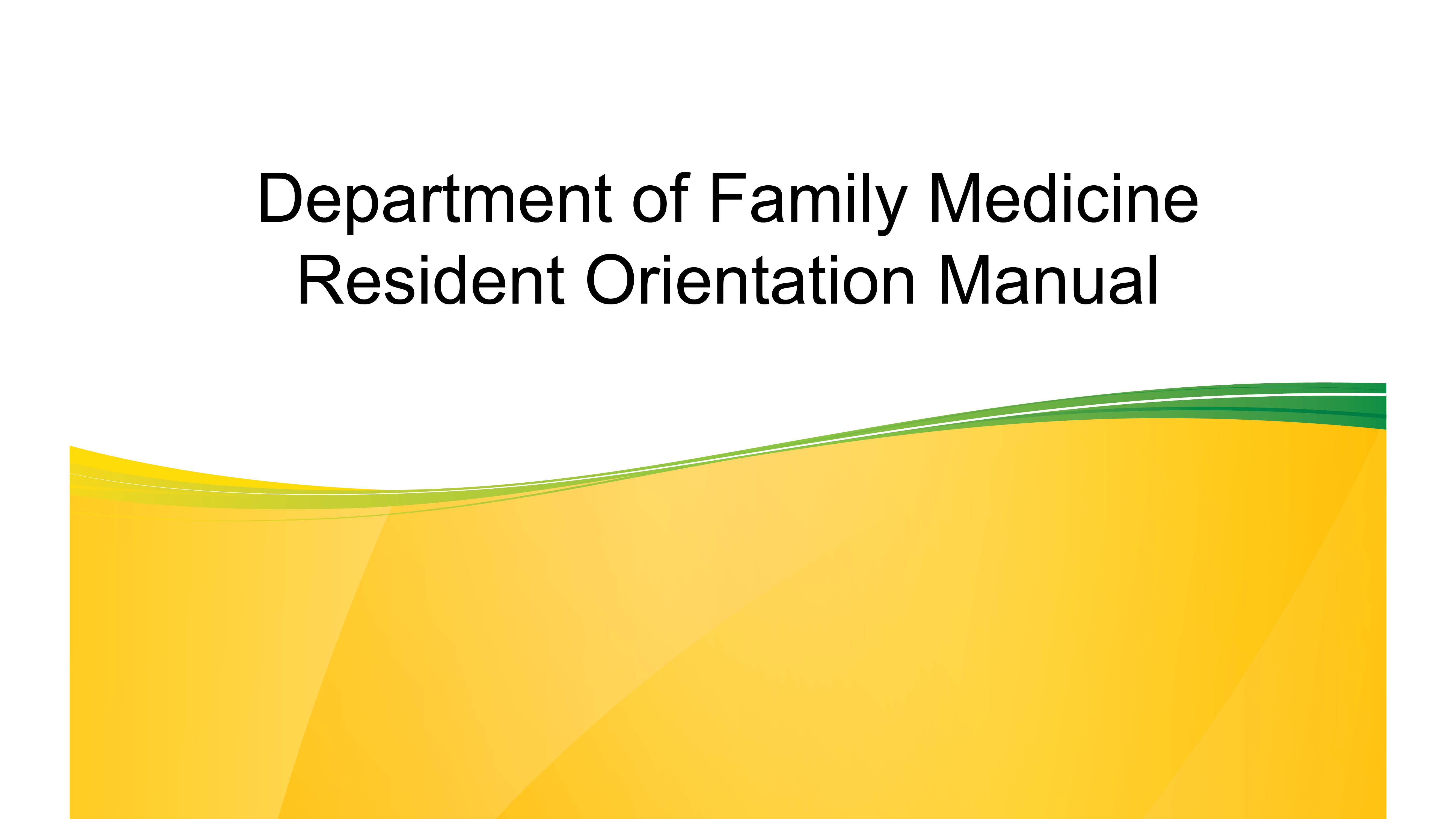 Residency Program | Faculty of Medicine & Dentistry