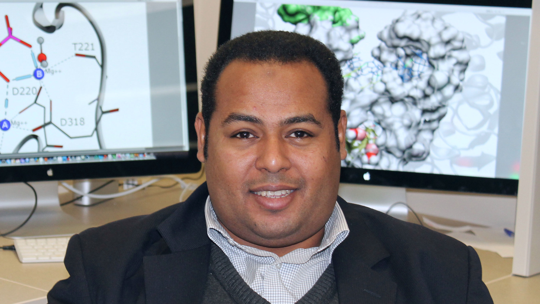 Pharmacy researcher Khaled Barakat is developing computer models of the SARS-CoV-2 virus