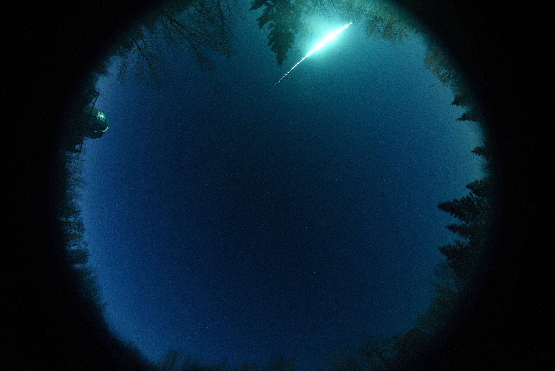 A fireball lighting up the sky in Alberta and Saskatchewan