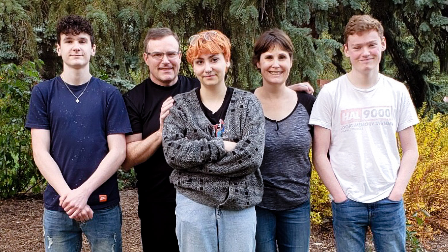 The Biollo family (from left): Alexi (fraternal twin brother), Michael (father), Genève (older sister), Anik (mother), and Zacharie
