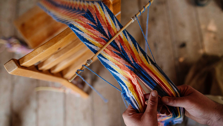 Mou sash weaving