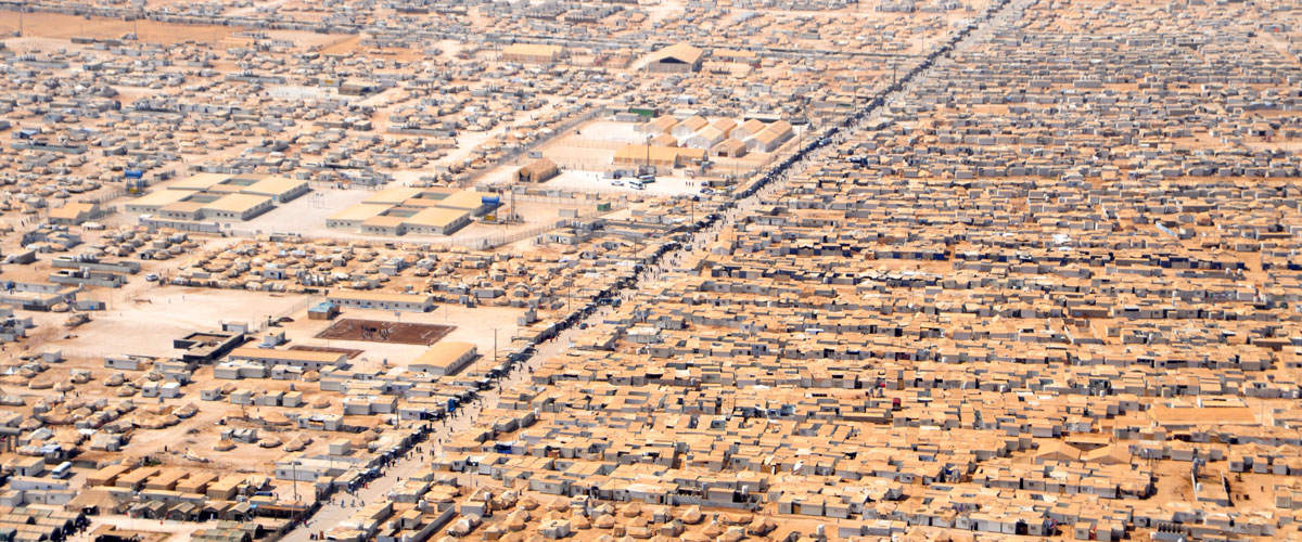 President's Award for Refugees and Displaced Persons Fund: Aerial view of refugee camp