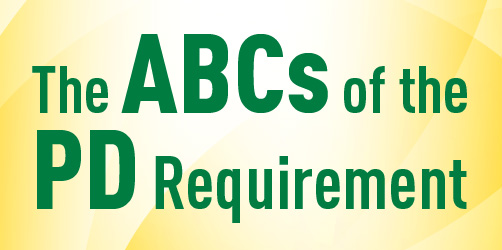 The ABCs of the PD Requirement