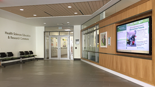 Health Sciences Education and Research Commons Exterior