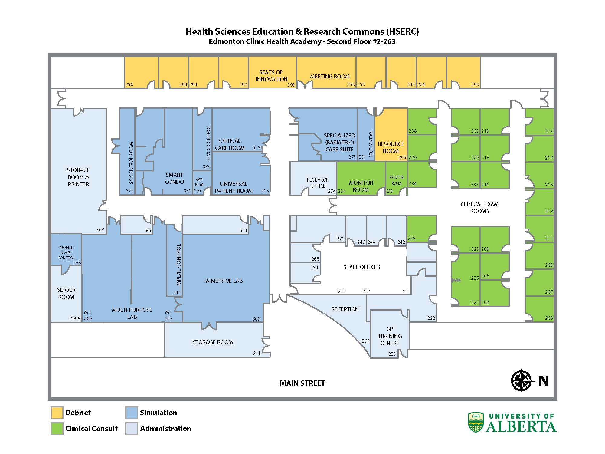 Floor plan of all of HSERC spaces