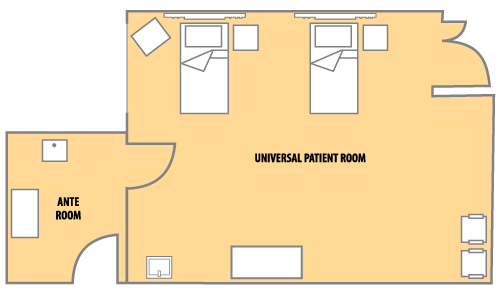 Universal Patient Room Health Sciences Education and Research Commons (HSERC)