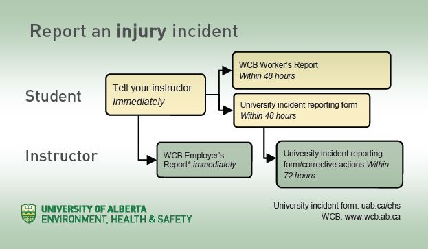Print A Sheet Of Wallet Cards For Use By U Of A Students.  Injury Incident Report Template