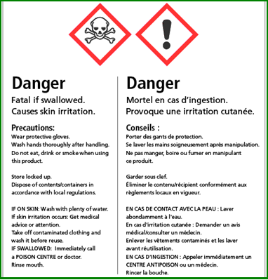Whmis 2015 environment health safety for Whmis labels template