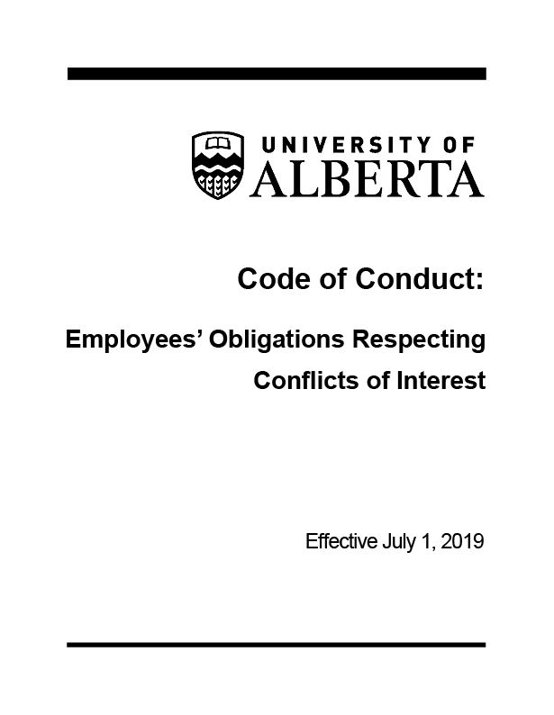 Cover of Code of Conduct: Employees' Obligations Respecting Conflicts of Interest