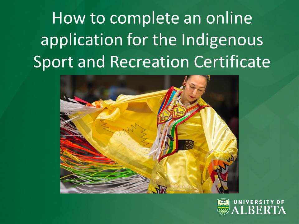 Indigenous Sport and recreation Application Process