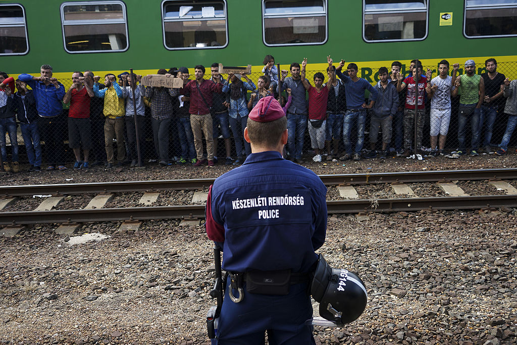 Syrna refugees strike at the platform of Budapest Keleti railway station. By Mstyslav Chernov (Own work) [CC BY-SA 4.0 (http://creativecommons.org/licenses/by-sa/4.0)], via Wikimedia Commons
