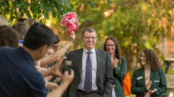 President Turpin is welcomed to campus