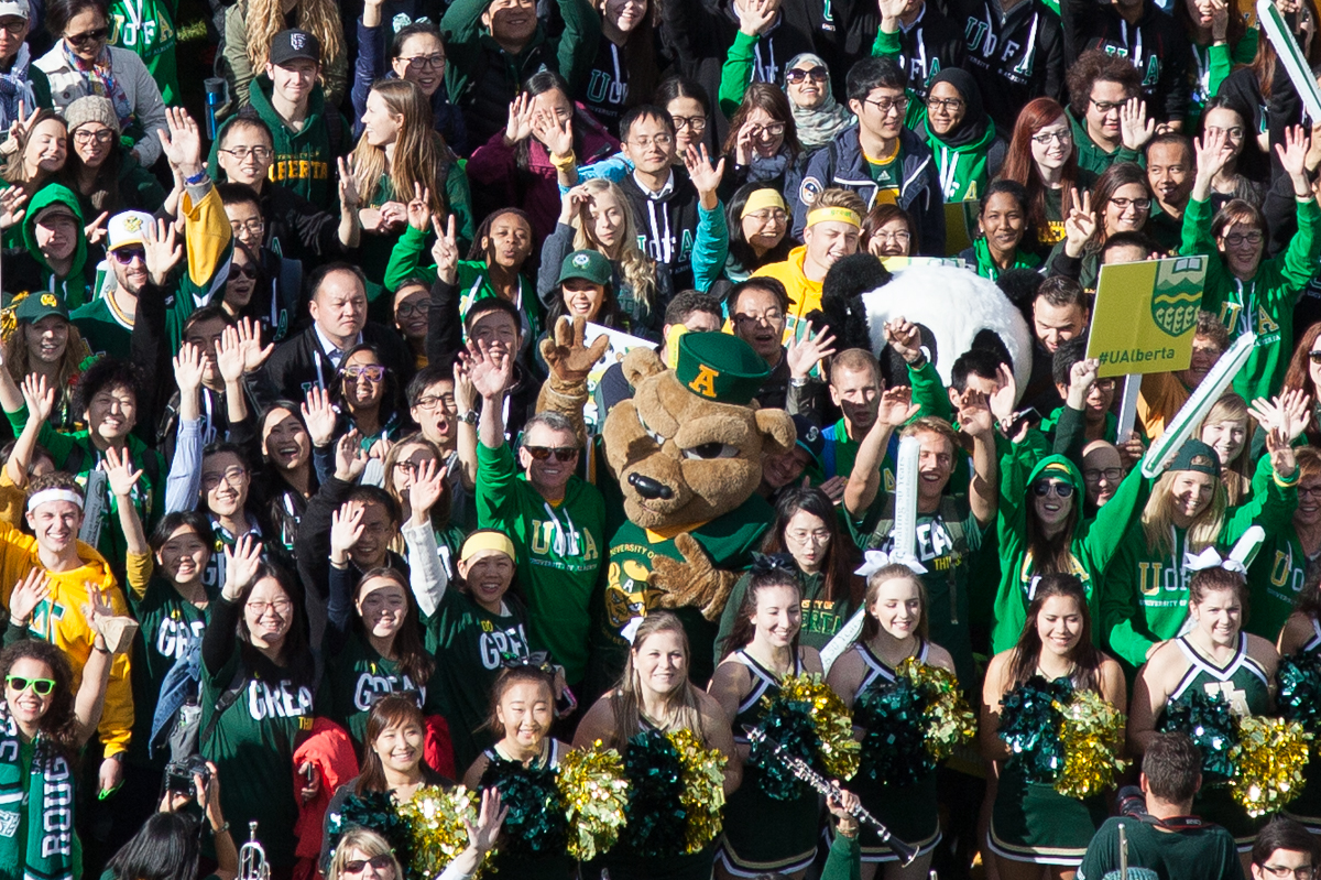 Faces in the crowd at Green and Gold Day 2015
