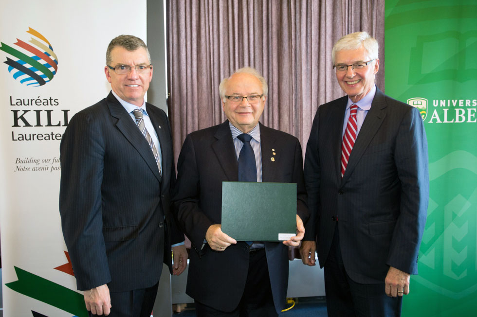 President David Turpin, Dr. Lorne Tyrell and Killam Trustee Kevin Lynch