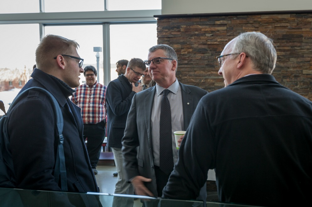 President Turpin visits the U of A's Augustana Campus.