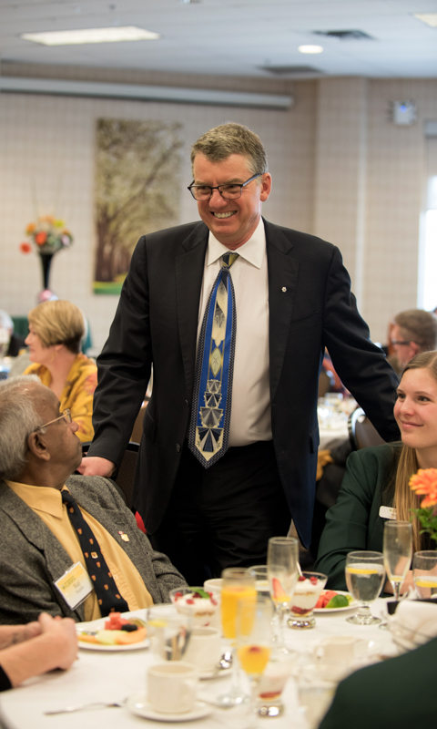 President Turpin at the Changing Lives Brunch