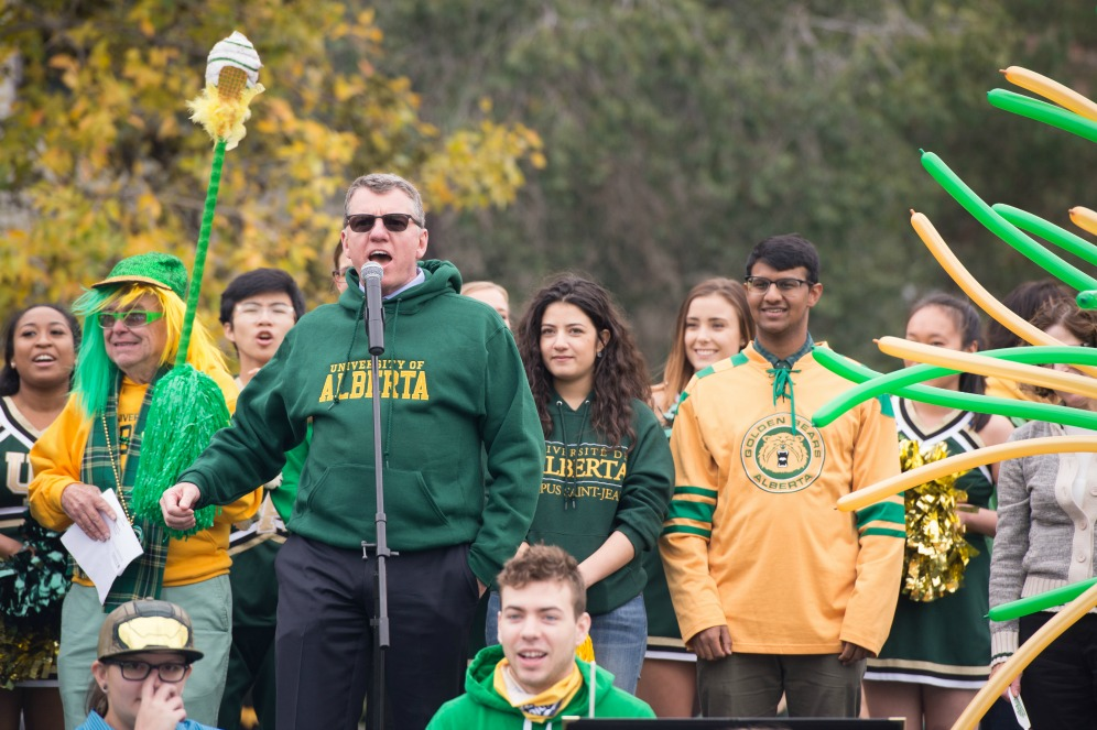 President Turpin at Green and Gold Day 2016