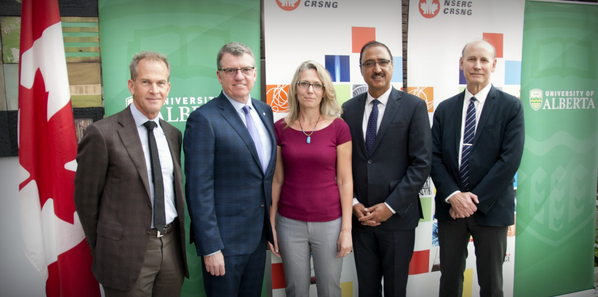 President Turpin attends an NSERC funding announcement in September, 2017