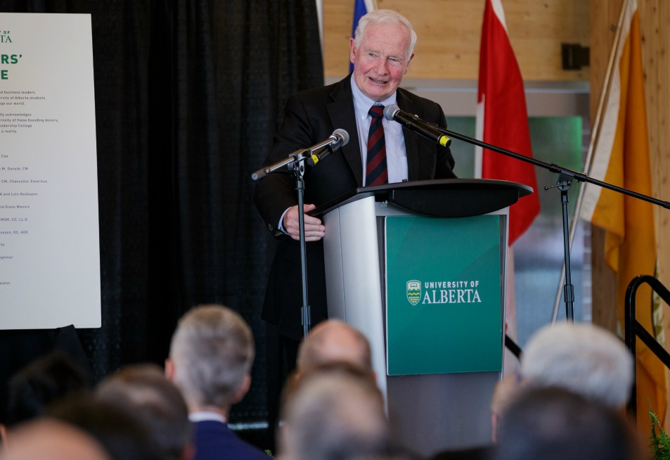 His Excellency, the Rt. Hon David Johnston, Governor General of Canada