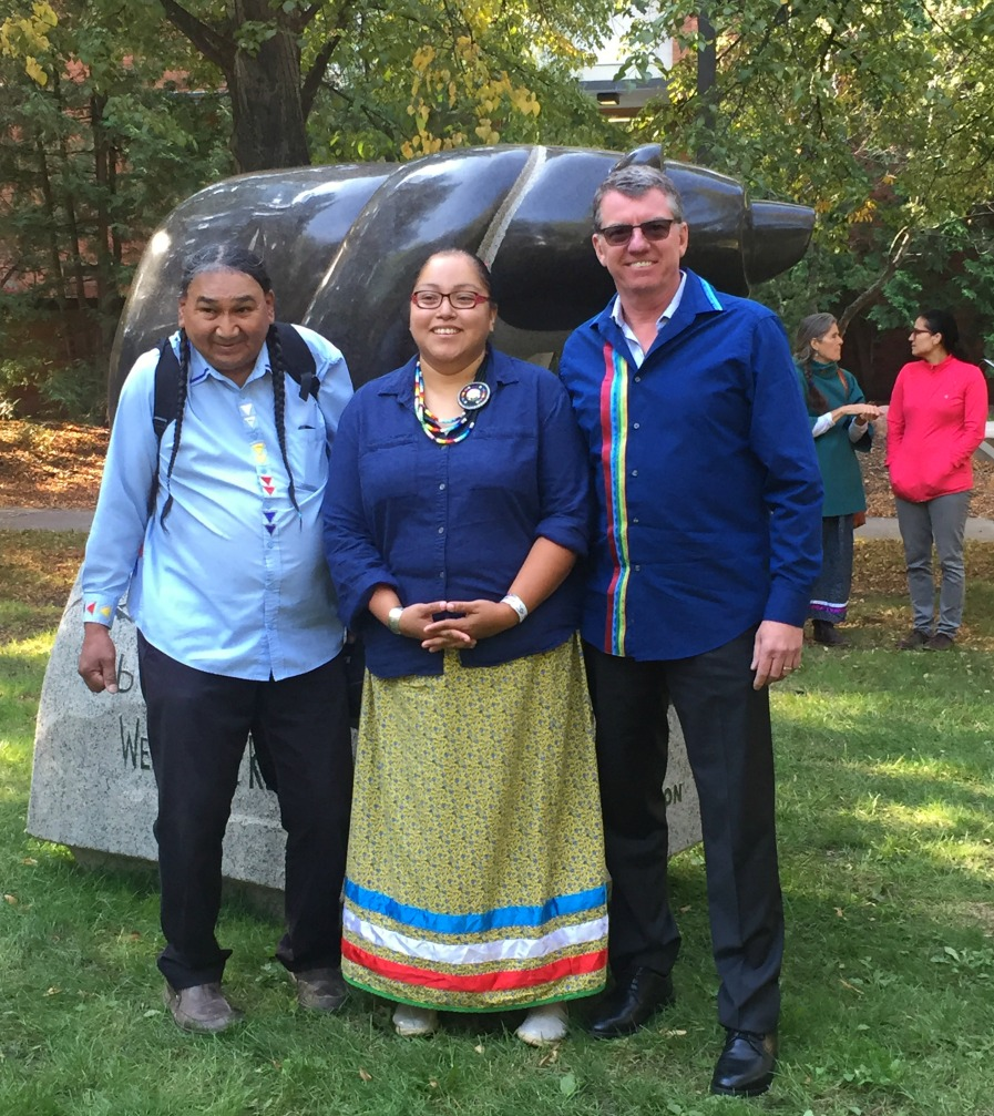 President Turpin with Elder Jimmy O'Chiese and partner Cynthia