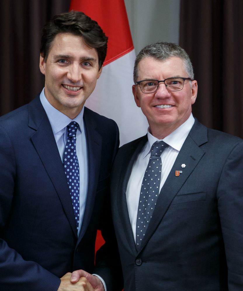 President Turpin with Prime Minister Justin Trudeau