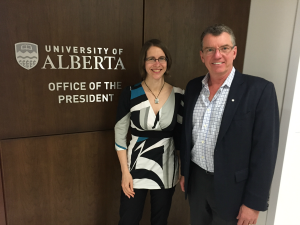 Meeting between Elizabeth Johannson, president of NASA and U of A predient David Turpin on July 21st