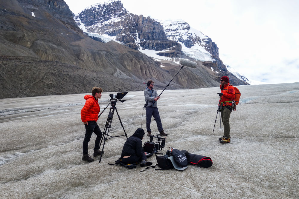 Matt Peter filming another 'Tech Tip' from the Columbia Ice Field in Jasper National Park, Alberta, Canada.