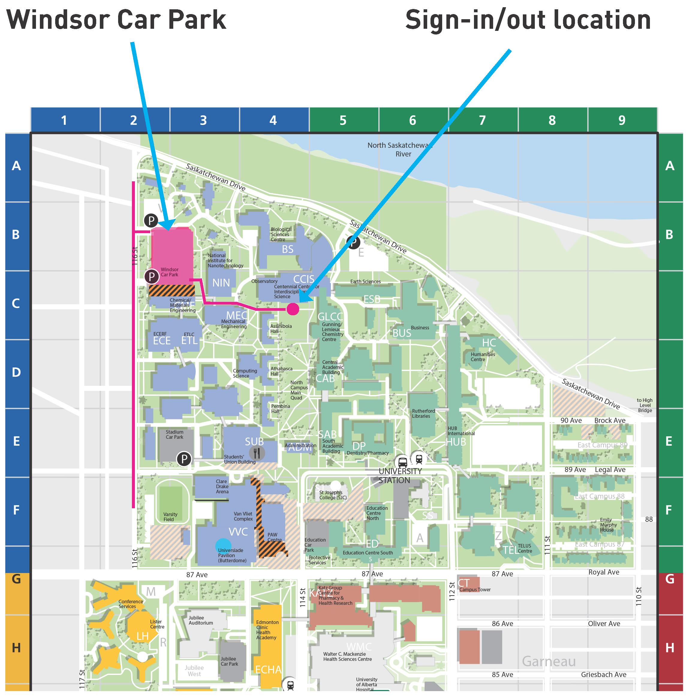 Location university of alberta for Location parking