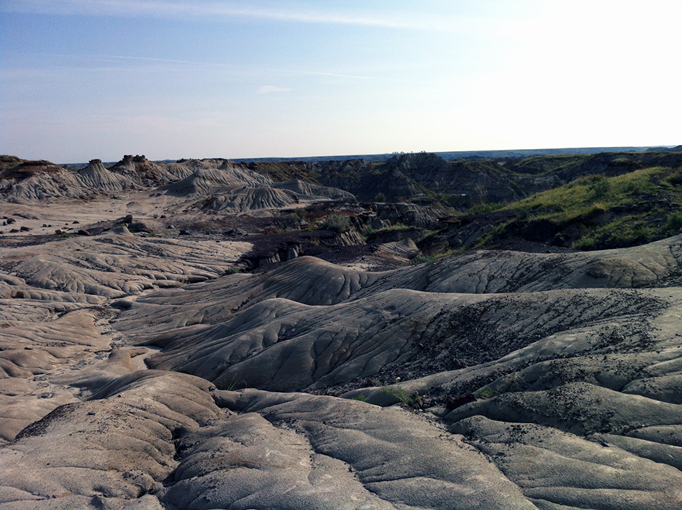 Making of Dino101 Behind the Scenes - Scenic Shot of Drumheller on location of shooting