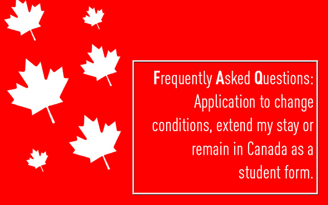 Frequently Asked Questions: Application to change conditions